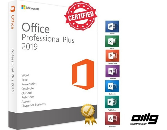 Microsoft Office Pro Plus 2013, 2016, 2019, 32/64 Bit