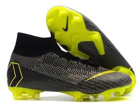 81d8cdedfac5c Zapatillas Nike Mercurial Superfly Negro Y Verde Lima 39-45