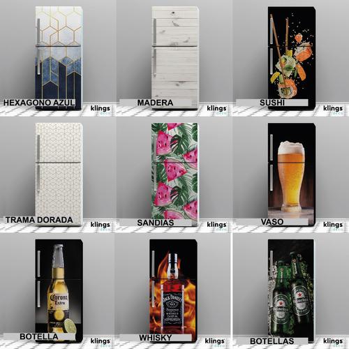 Imagen 1 de 10 de Vinilos Decorativos Para Heladera Plotter Heladeras