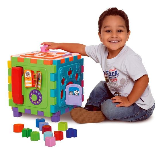 Brinquedo Educativo Encaixe Bebê Cubo Didático Grande