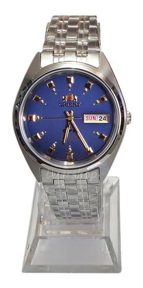 Relógio Orient Automatico Masculino Classico Azul Caixa Nf