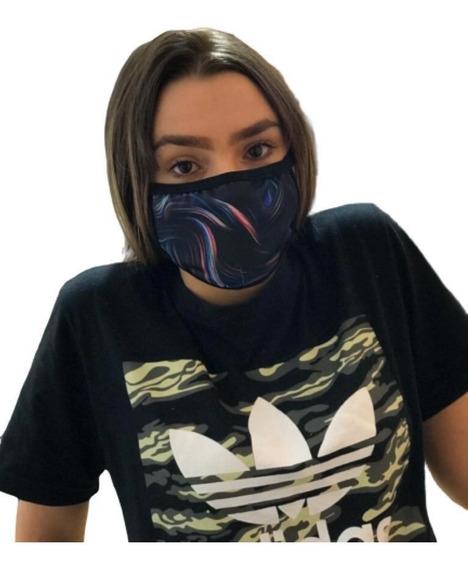 Mascara Protetora Lavável Estampadas Tecido Facial