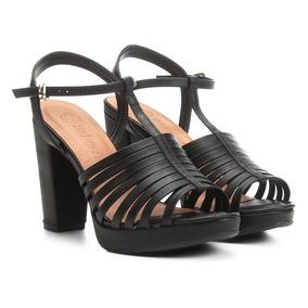 43c5e14251 Sandália Salto Quadrado Meia Pata Feminino - Sapatos no Mercado ...