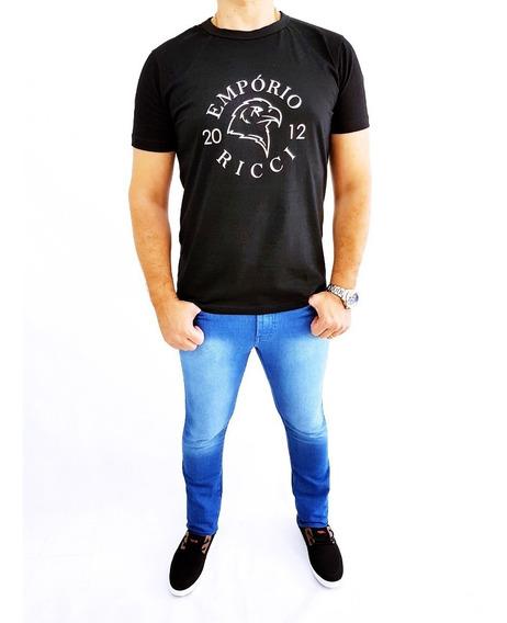 Kit 2 Calça Jeans Masculina Skinny Com Lycra