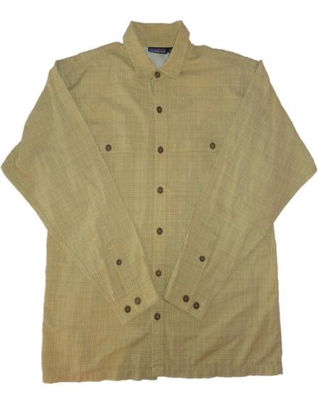 Patagonia Camisa De Caballero M L Talla L Cuadros Excelente
