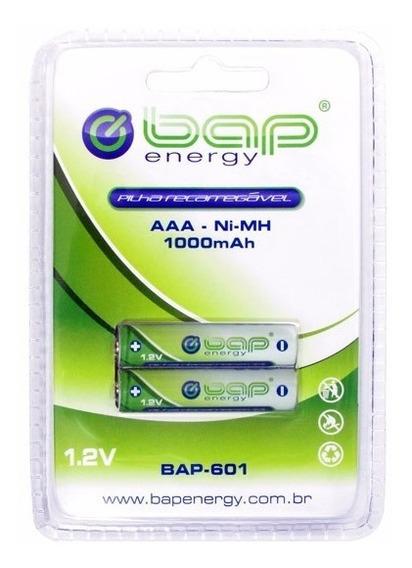 Bap Pilha Recarregável Aaa 1000mah Bap-601 Caixa C10 Cartela