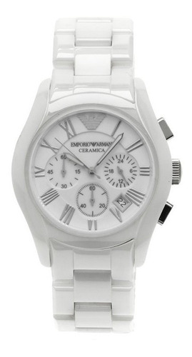 Special Offer Relógio Armani Ar1403 Men Ceramic White Watch