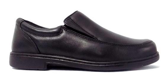 Zapato Diabético Cuero 100% Negro Be Flex