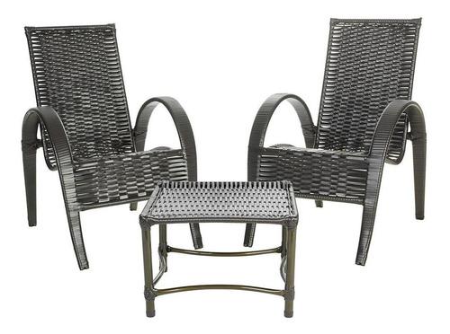 Cadeira Area Varanda Jardim Junco Bambu Fibra Sintetica