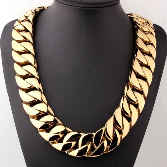 Corrente Gigante Gold / Dourada Ou Prata