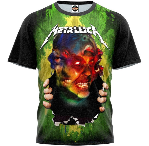 Camiseta Blusa Metallica Masculina Estampa Digital Mod 0046