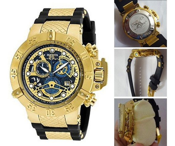 Invicta Subaqua Noma 3 Skeletonized 18k Gold Chronograph