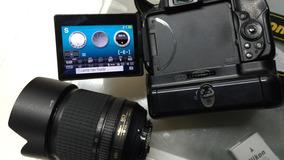 Nikon D5300 +grip + Lente 18-105vr
