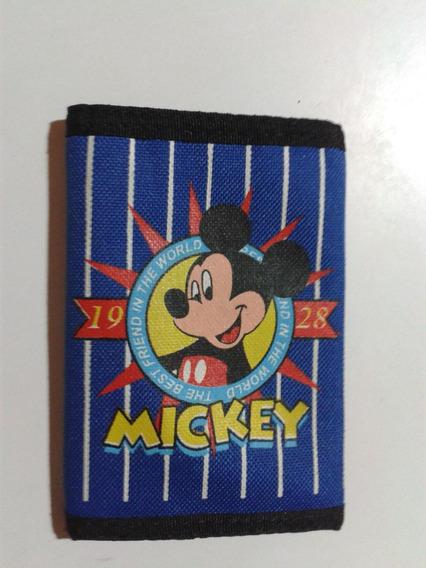 Cartera Billetera Lona Niños Mickey Mouse Importada