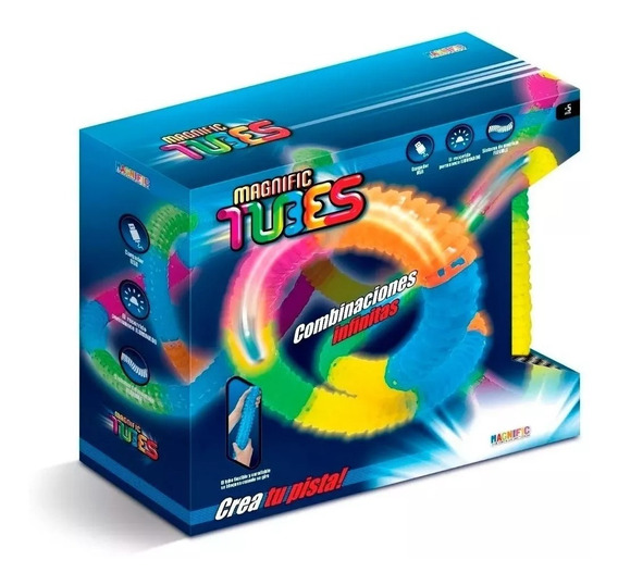 Pista Flexible Magnific Tubes 90220 Juego Carreras Edu Full