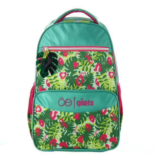 Backpack Con Ruedas Textil Con Print Y Estructura Semi-soft