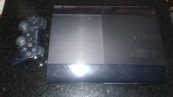 Playstation 3 Com Um Controle E 16 Jogos Originais Em Cd