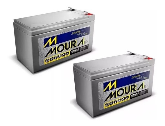 Kit 2 Bateria Moura Vrla Selada 12v 7ah Envio Imediato
