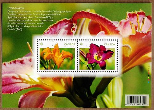 Imagen 1 de 1 de Canadá 2012 : Flores , Flora , Azucenas Naranja Y Morado