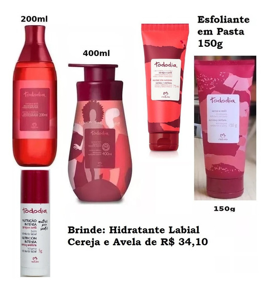 Natura 4 Produtos Colonia Oleo Hidratante -desconto + Brinde