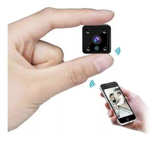 Mini Câmera Wifi Ip Filma No Escuro Com Infra Espiã Portátil Acesso Via Aplicativo Celular