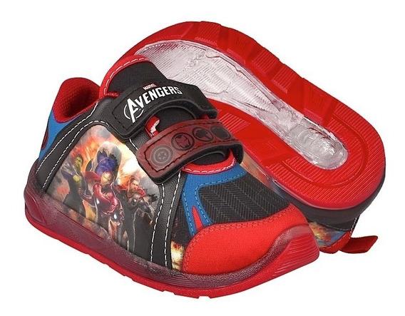 Tenis Casuales Para Niño Avengers 8921 Rojo