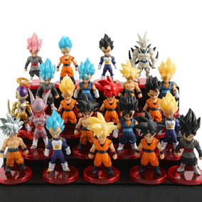 Kit 21 Bonecos Dragon Ball Goku Black Action Figure S226