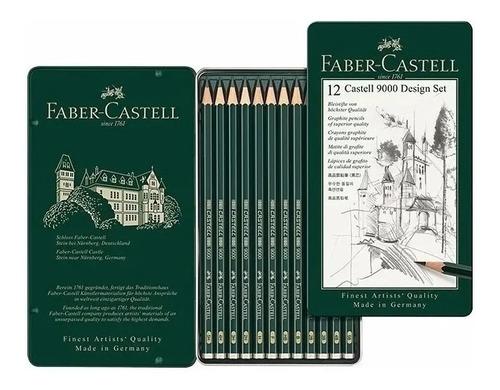 Lápices Faber Castell 119064 Para Diseño Set 9000 C X12 Unid
