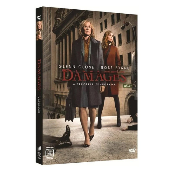 Seriado Damages 3ª Temporada 3 Discos Dvd - Original