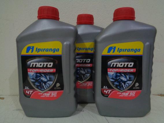 3 Óleo Lubrificante Motor Moto Ipiranga 15w50 4t Sintético