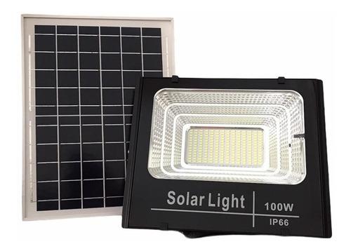 Reflector Solar Led 100w Ip66 Exterior C/ Panel + Control