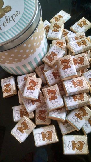 50 Chocolates Personalizados + Lata