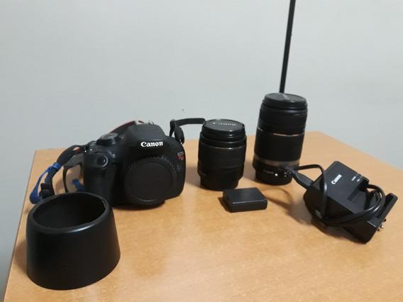 Camera T5 Lente Do Kit Lente 55-250 Bateria Extra Carregador