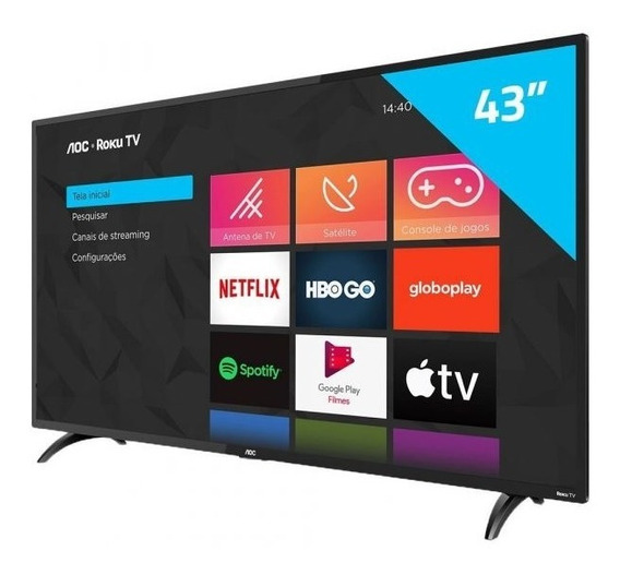 Smart Tv Full Hd Led 43 Aoc - Wi-fi 3 Hdmi 1