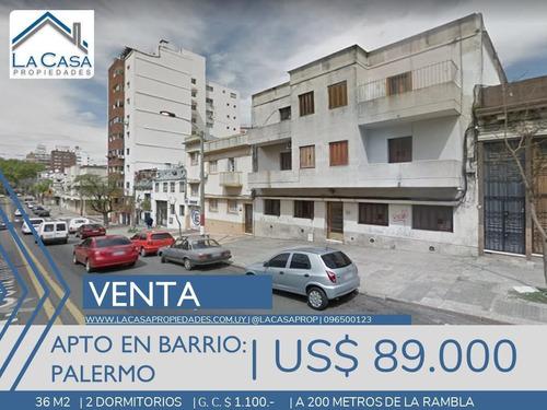 Apartamento 2 Dormitorios En Palermo