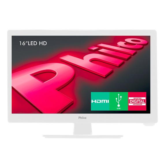Tv Philco Led 16 Ph16d10db Branca Bivolt