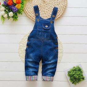 Macacão Jardineira Jeans Infantil Ariel