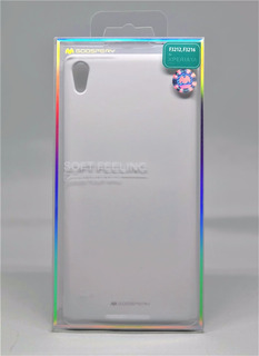 Funda Xperia Xa Ultra Mercury Goospery Soft Feeling Blanco