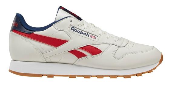 Zapatillas Reebok Classic Leather Bei/roj De Hombre