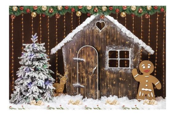 Fundo Natal Fotográfico Boneco De Chocolate