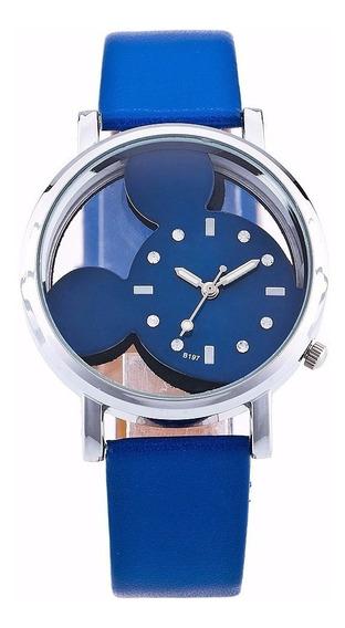 Relógio Feminino Mickey Mouse Azul - Quartzo