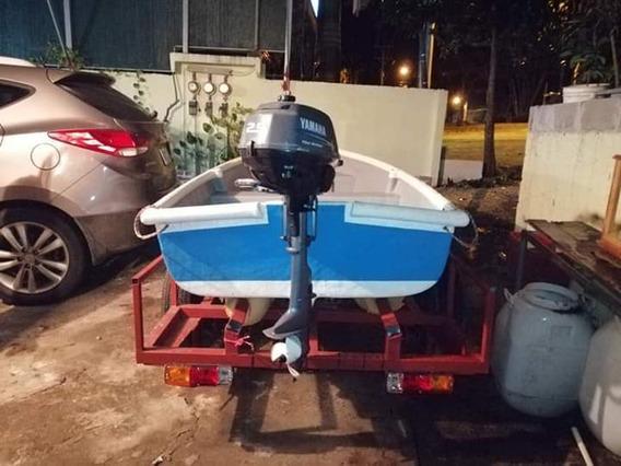 Vendo Bote Con Carreta Y Motor Prácticamente Nuevo