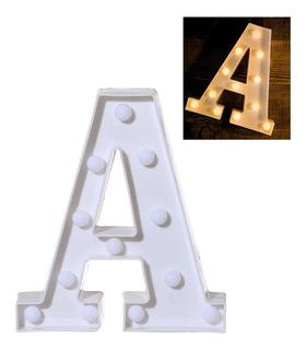 1 Letra Lampara Alfabeto Luces Foco Led Bombilla Abecedari