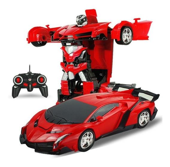 Lamborghini Transformers Robô Automático Controle Remoto Car