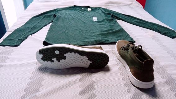 Zapatos Timberland Talla 9 Y Camiseta Mangas Largas Old Navy