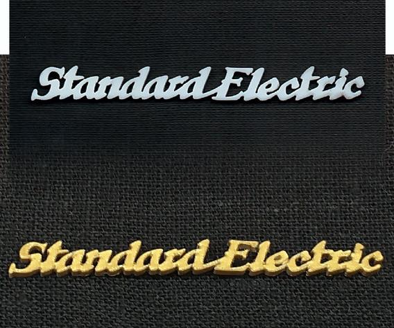 Emblema 3d Rádio Standard Electric(logomarca)