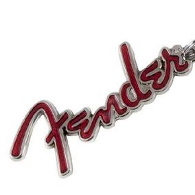 Chaveiro Fender Colecionador Metal Prata/vermelho Original
