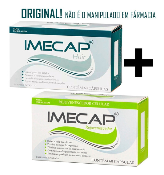 Kit C/ 01 Imecap Hair E 01 Imecap Rejuvenescedor 60 Cáp Cada