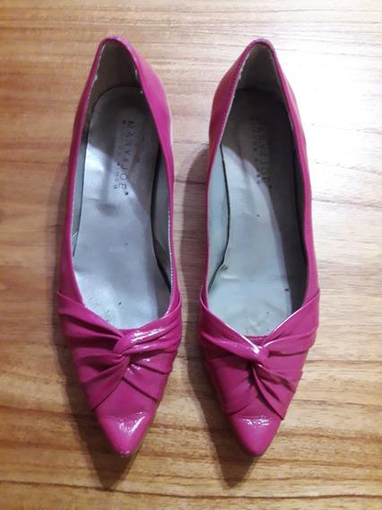 Zapatos Chatitas Fucsia Cuero Mary&joe 36 Impecables