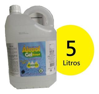 Alcool Gel 70% Brasquil Higienização Das Mãos E Superficies